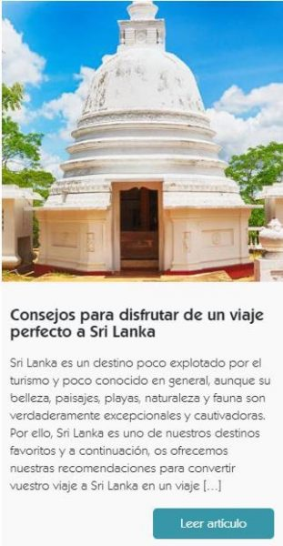 Consejos Sri Lanka y Maldivas