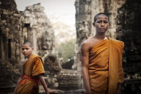 Viajes a Camboya - Que ve en Camboya - Arqueología - Monjes Buistas