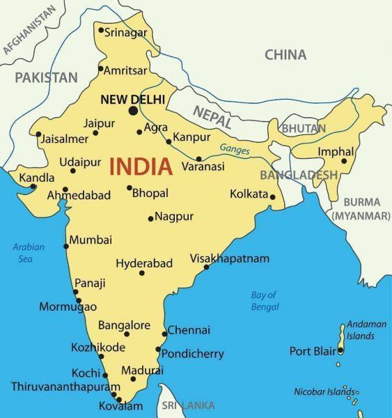 Mapa Turístico de la india - Que ver en la India