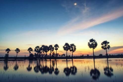 Viajes a vietnam - Delta del Mekong atardecer