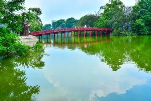 Que ver en Vietnam - Hanoi Lago de Hoan Kiem