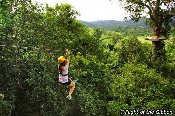 Viaje de aventura en Tailandia - Tirolina