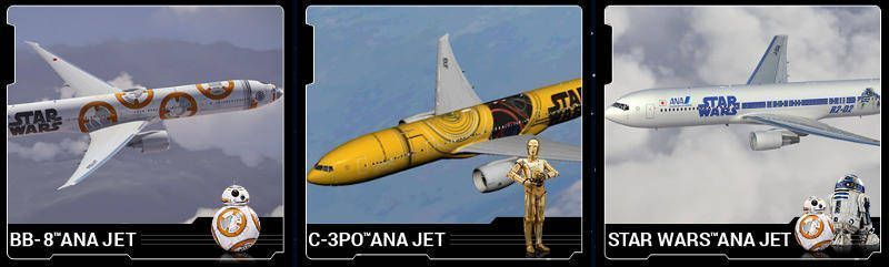 Vuelos a Japón - Aviones Star Wars