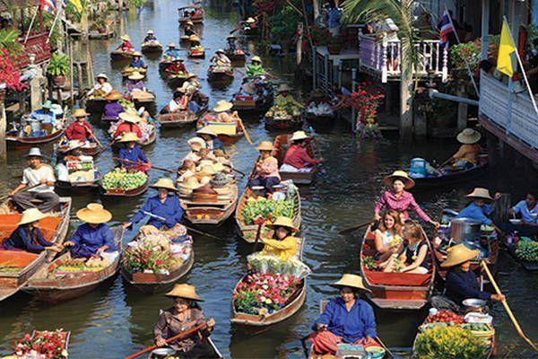 compras mercado flotante klong damnersaduak
