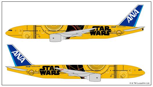 Vuelos Japón - Diseño Avión Star Wars