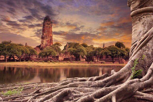 visitar Ayutthaya, Wat Chaiwathanaram, Wat Mahathat y Phra Mahathat