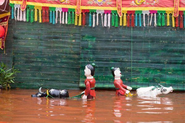 viajar vietnam-marionetas agua